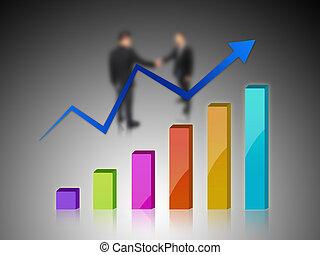 graphique, flèche, reussite, business