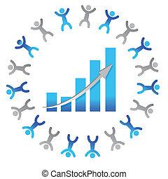 graphique, gens, concept, business