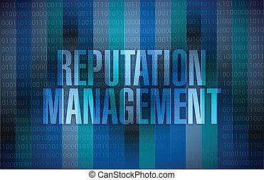 graphique, gestion, illustration, réputation