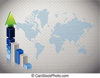 graphique, graphique financier, business