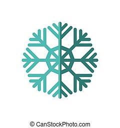 graphique, hiver, flocon de neige, vecteur, icon., froid