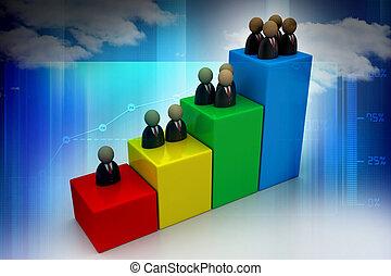 graphique, homme, business, icône