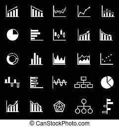 graphique, icônes, sur, arrière-plan noir
