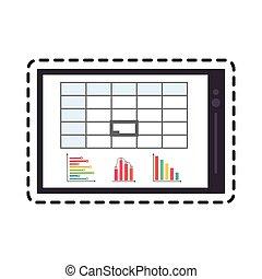 graphique, image, diagramme, tablette, icône