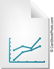 graphique, ligne, document