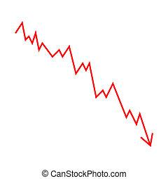 graphique, linéaire, statistique