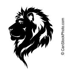 graphique, lion