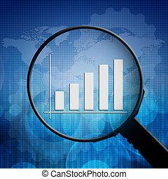 graphique, magnifier, business, verre