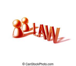 graphique, mot, droit & loi