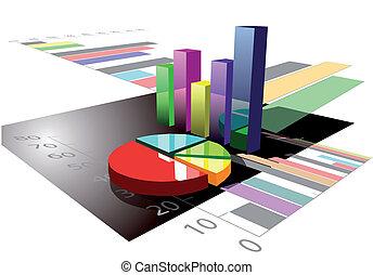 graphique, multicolore