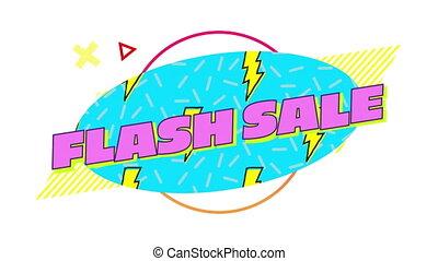 graphique, ovale, fond, vente, flash, blanc, bleu, en mouvement, éléments
