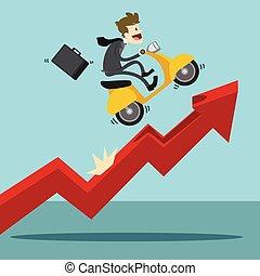 graphique, résumé, financier, fond, technologie