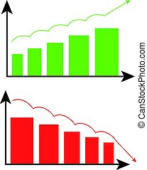 graphique, résumé, fond blanc