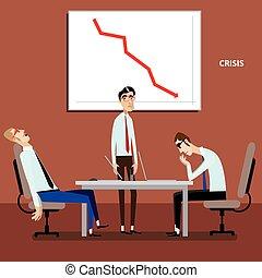 graphique, réunion, négatif, hommes affaires
