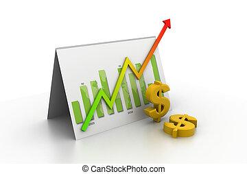 graphique, réussi, business