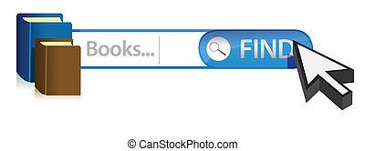 graphique, recherche, livres, illustration