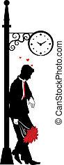 graphique, silhouette, homme