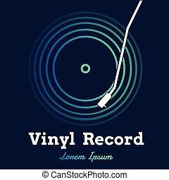 graphique, sombre, enregistrement, vecteur, musique, vinyle, fond