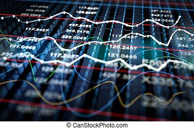 graphique, stockage, fond, échange