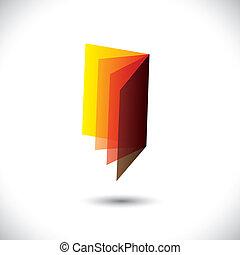 graphique, symbol(icon), vecteur, papers-, vide, book(booklet)