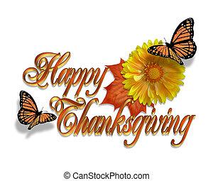 graphique, thanksgiving