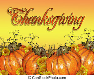 graphique, thanksgiving, potirons
