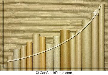 graphique, tube, cardborad