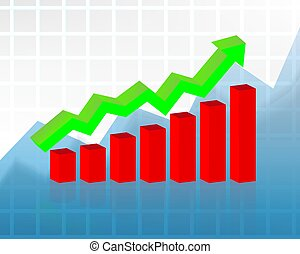 graphique, vecteur, concept:, marché, stockage