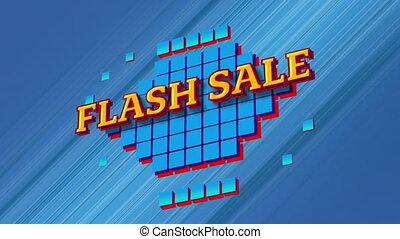 graphique, vente, flash, carrés