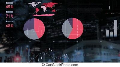 graphiques, 4k, en mouvement, statistiques