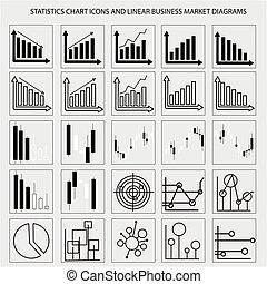 graphiques, diagrammes, diagrammes