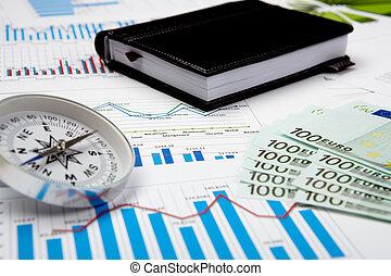 graphiques, financier, diagrammes