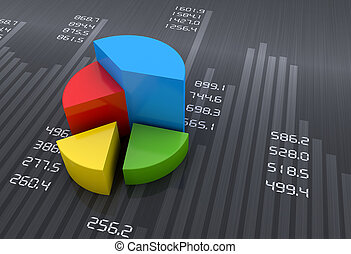 graphiques, graphique financier, business