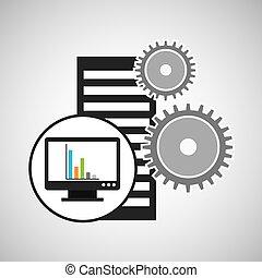 graphiques, monture, informatique, base données, icône