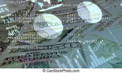 graphiques, papier, factures