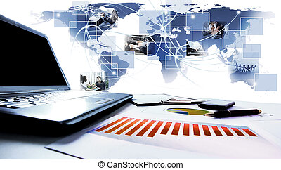graphiques, table., business, diagrammes