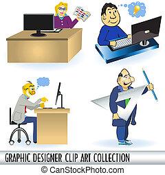 graphiste, attachez art, collectio