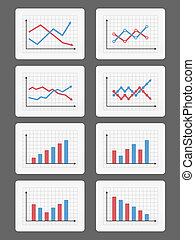 Graphs and Charts - Set of different graphs and charts, ...