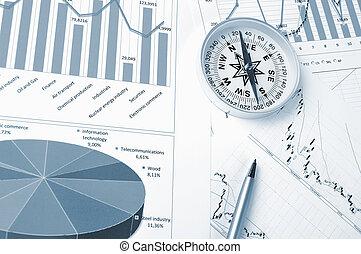 Graphs and charts.