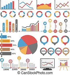 Graphs and Diagrams - Business infographic elements...
