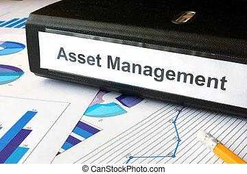 folder with label Asset Management - Graphs and file folder...