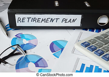 folder with label retirement plan