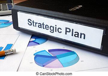 folder with label Strategic plan