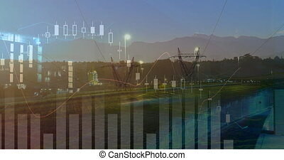 Graphs and statistics on a highway with transmission towers ...