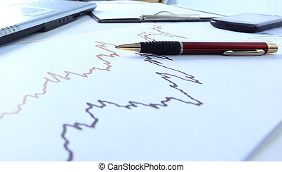 Graphs, charts, business table