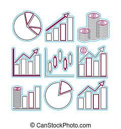 Graphs - Vector icon graph sample. Vector Illustration EPS...