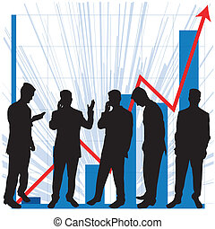 Graphs for business use - Business graphs showing progress...