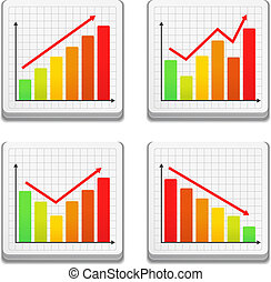 Graphs icons, vector eps10