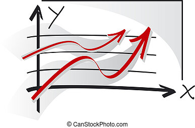 Graphs of success - Two red graphs of success