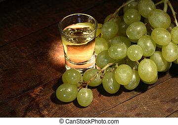 Grappa And Grape - Glass full of grape vodka ?grappa? near ...